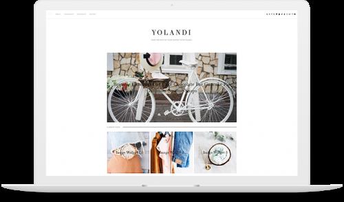 Yolandi blogger template