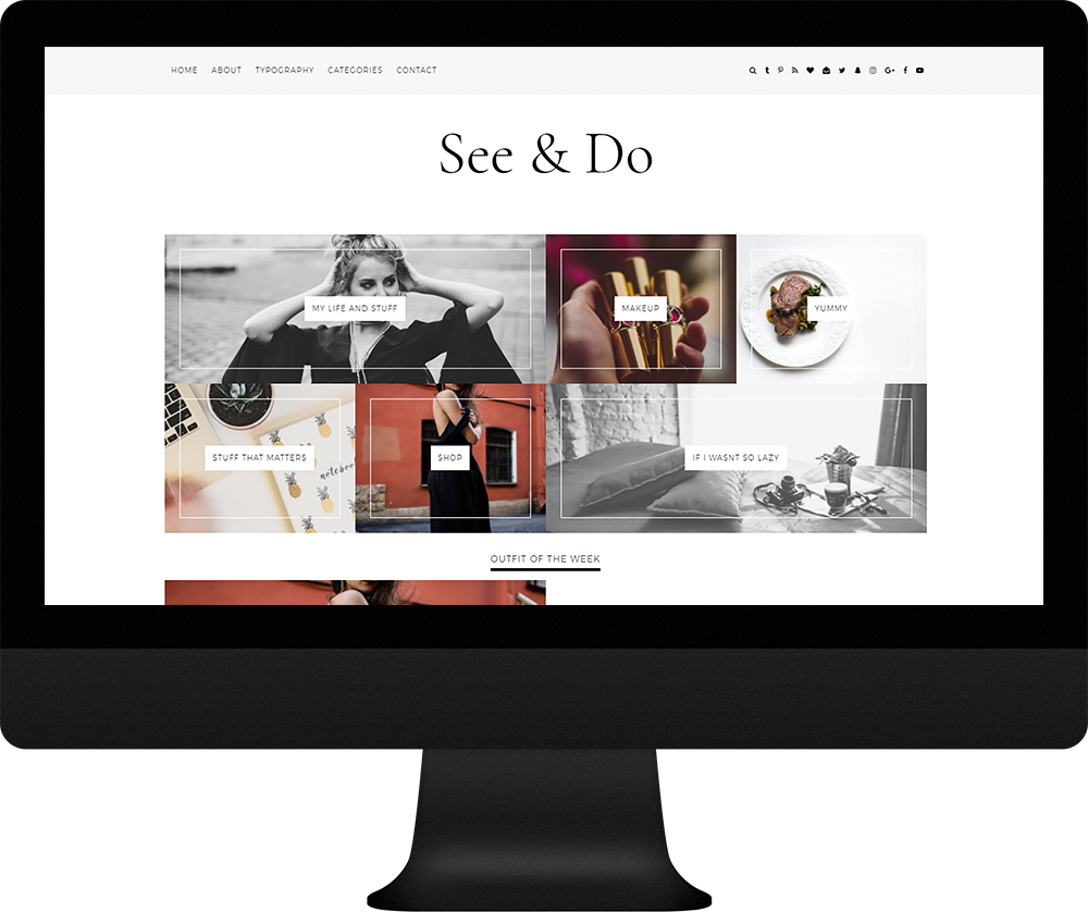 categories gallery blogger theme - See & Do Theme