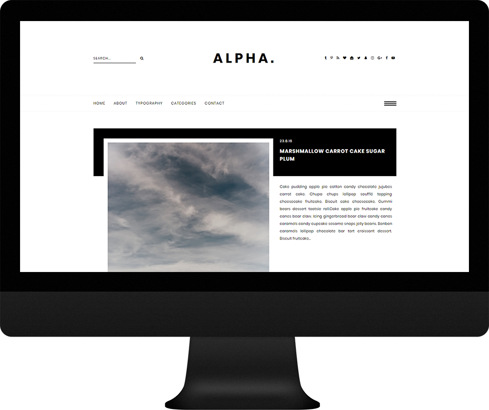 Sliding menu bar blogger responsive - Alpha Theme