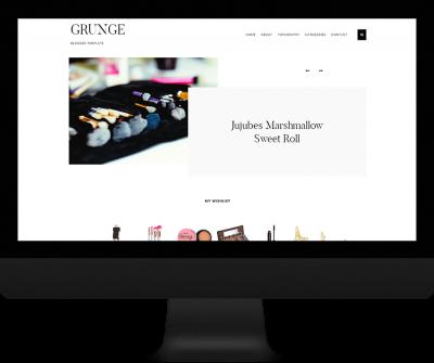 Single column gallery theme blogger - Grunge Theme