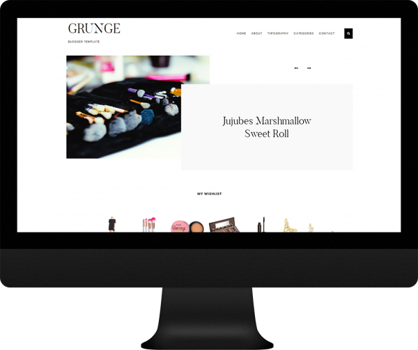 Single column gallery theme blogger - Grunge Theme