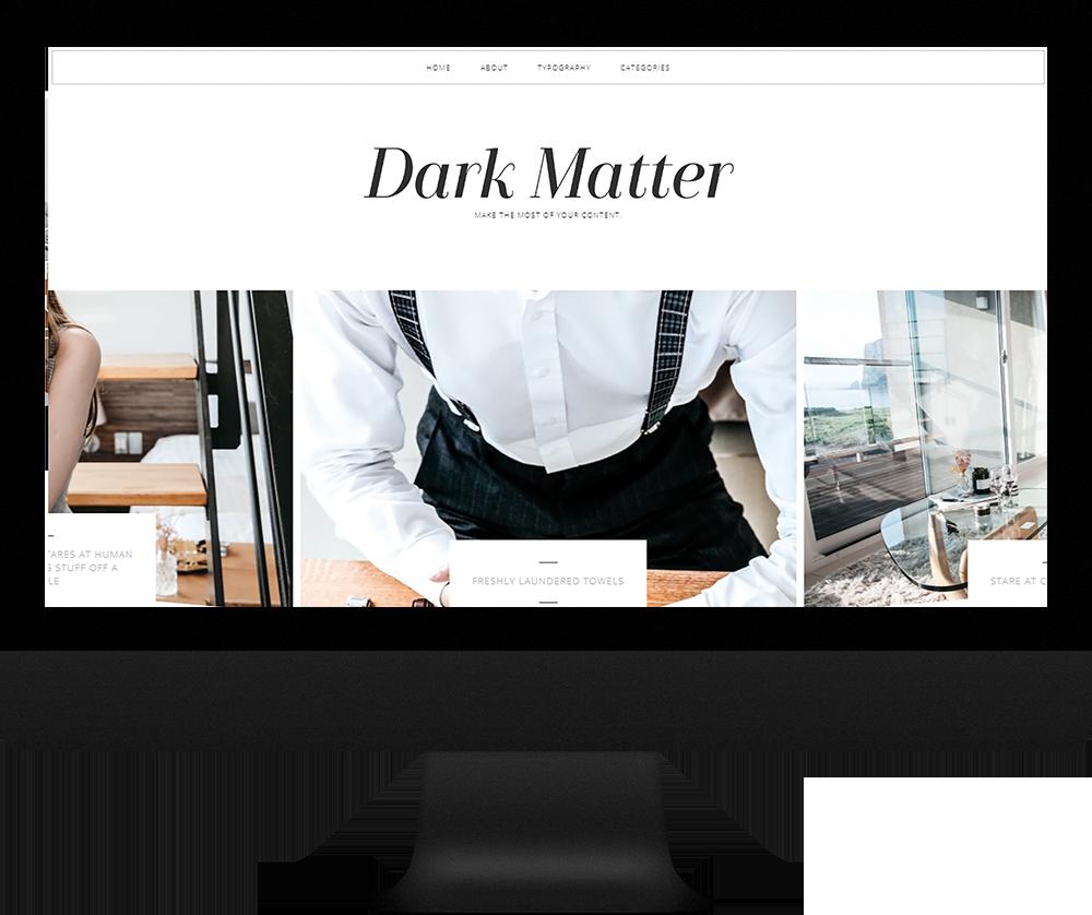 modern blogger template responsive - Dark Matter Theme
