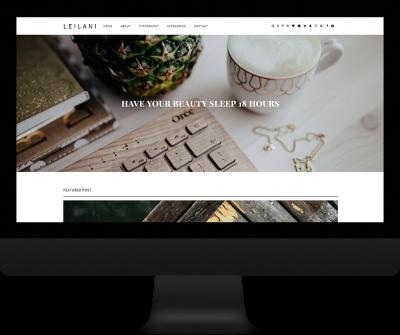 single column responsive blogger theme - Leilani Theme