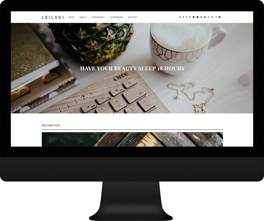 single column responsive blogger theme - Leilani Theme