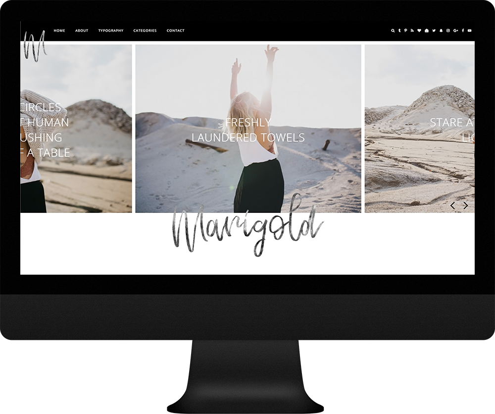 unique blogger template responsive - Marigold - II