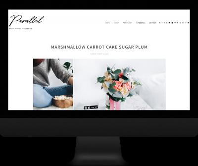 Parallel theme - responsive blogger theme custom logo