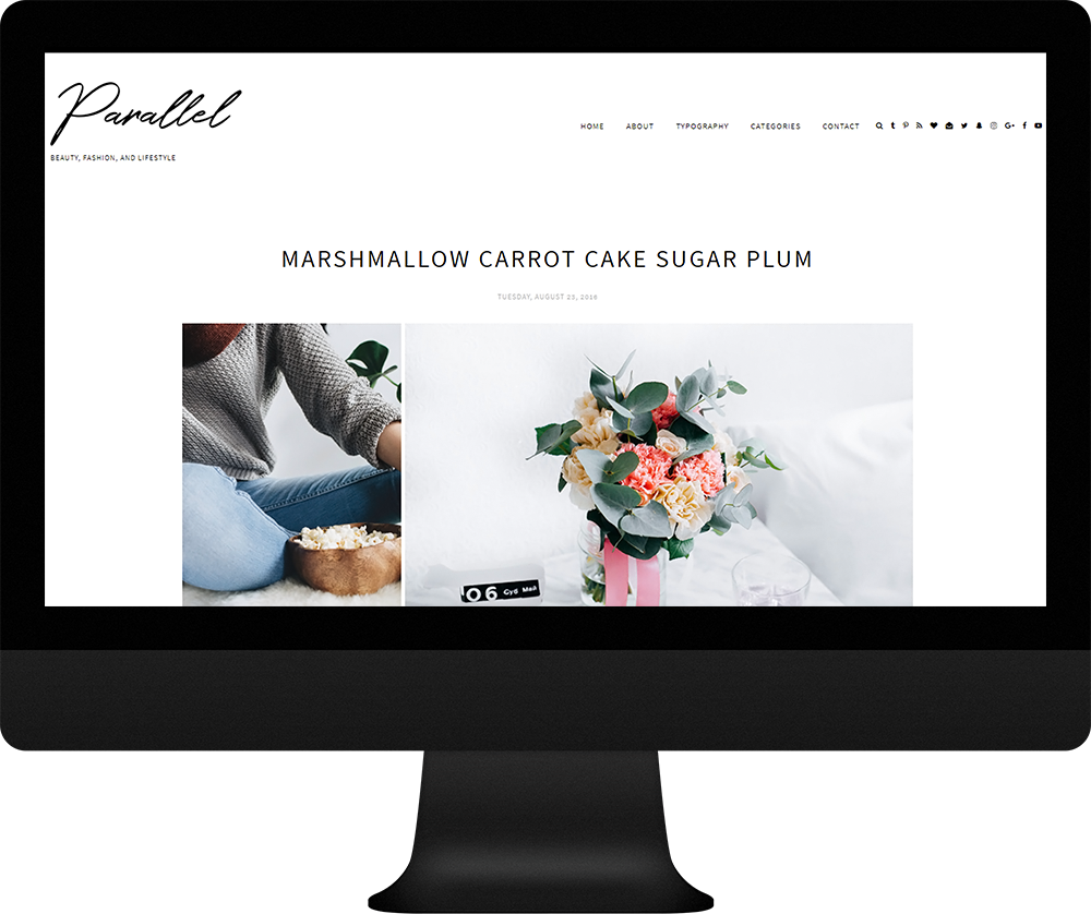Parallel theme - responsive blogger theme custom logo
