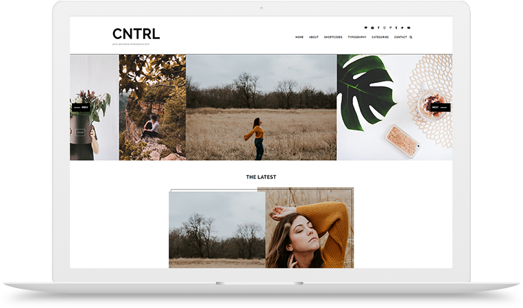 cntrl wordpress theme left right layout two featured images custom design affiliate shop this post