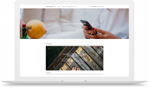 Leilani blogger template theme slider left right layout full width image