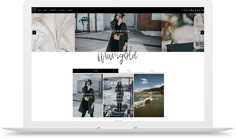 Marigold Blogger Theme two themes in one