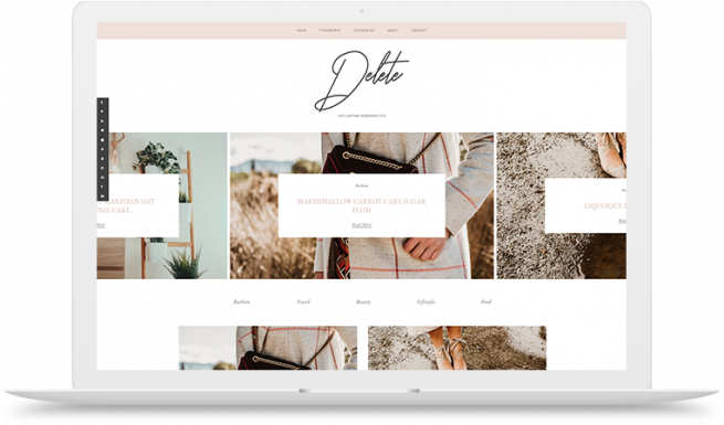 del blogger theme with roll over images black and white hover