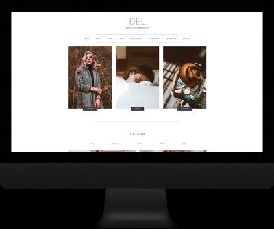 del wordpress theme genesis framework fashion blog minimal website custom design afforadable website featured posts slider parallax website user friendly easy