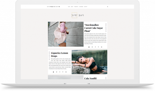 dirtbag blogger template theme gray left right layout instagram widget affordable