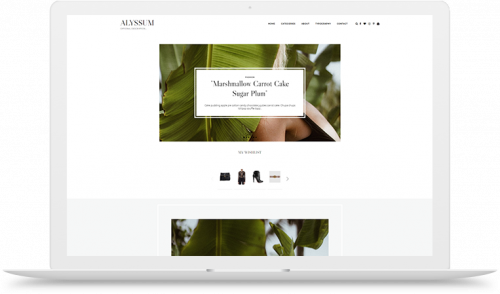 Alyssum Blogger theme, no-sidebar homepage, sidebar single posts, one column posts list, gray white and black text