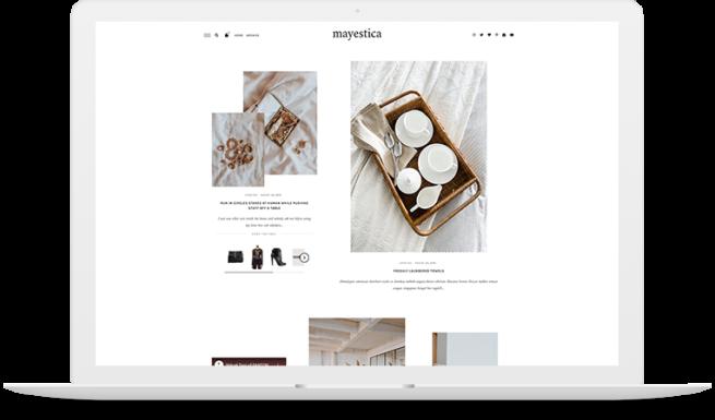 mayestica wordpress theme