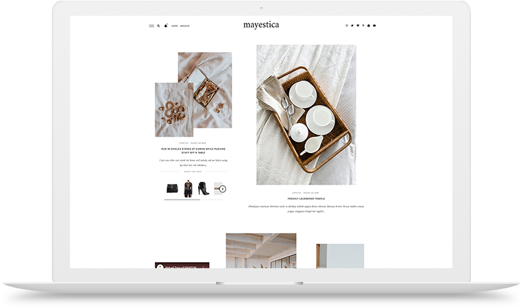 mayestica wordpress theme